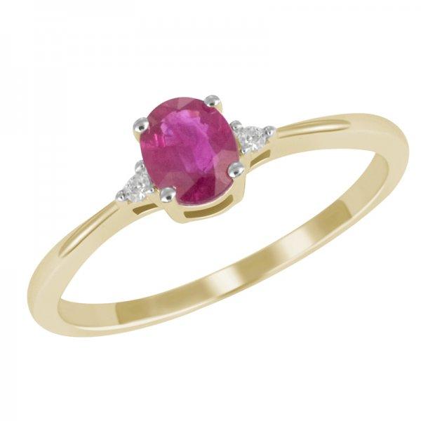 Zlatý prsten s rubínem GKW26160RUB