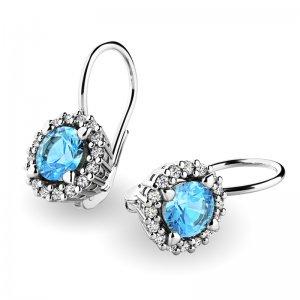 Luxusní náušnice s diamanty 10925-B-TPZ
