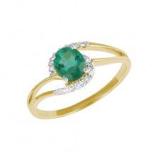 Prsten se smaragdem a diamanty GKW45110SMAR