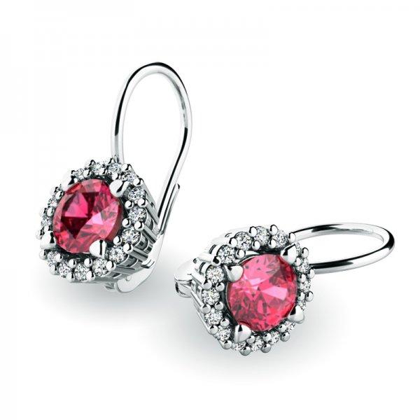Luxusní náušnice s diamanty 10925-B-TUR