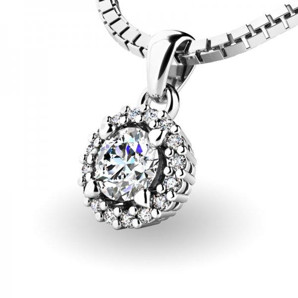 Luxusní přívěsek s diamanty 10927-B-DIA