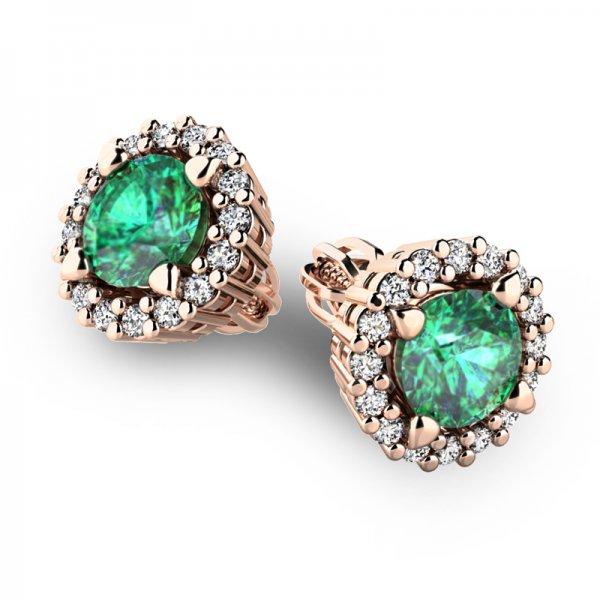 Luxusní náušnice s diamanty 10926-CV-SMAR