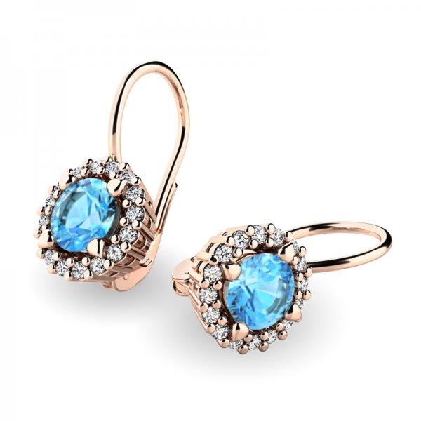 Luxusní náušnice s diamanty 10925-CV-TPZ