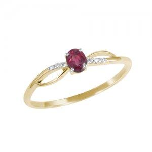 Prsten s diamanty a rubínem GKW46582RUB