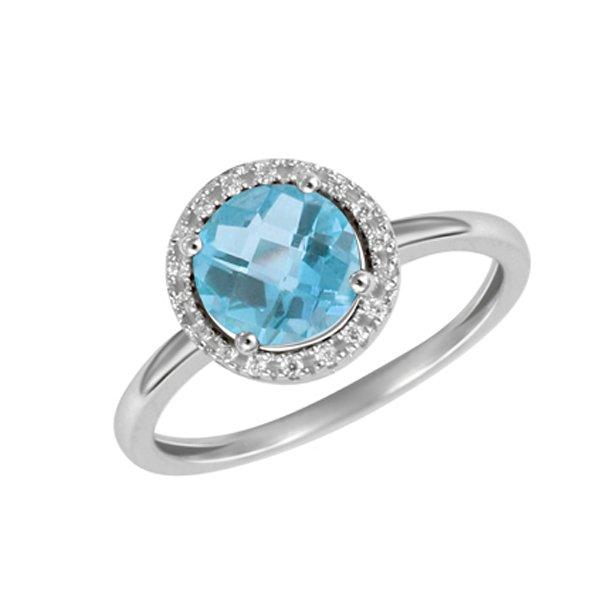 Prsten s diamanty a s topazem GKW47231TPZ