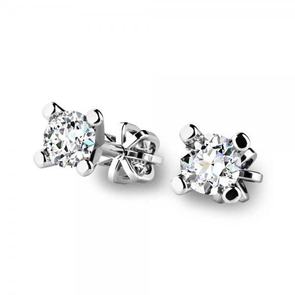 Diamantové náušnice pecky 10832-B