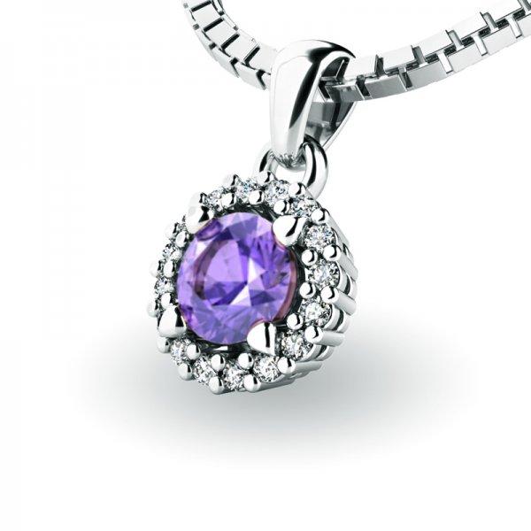 Luxusní přívěsek s tanzanitem a diamanty 10927-B-TAN