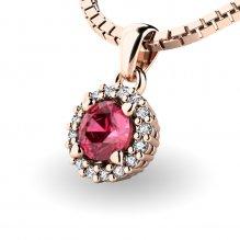 Luxusní přívěsek s turmalínem a diamanty 10927-CV-TUR