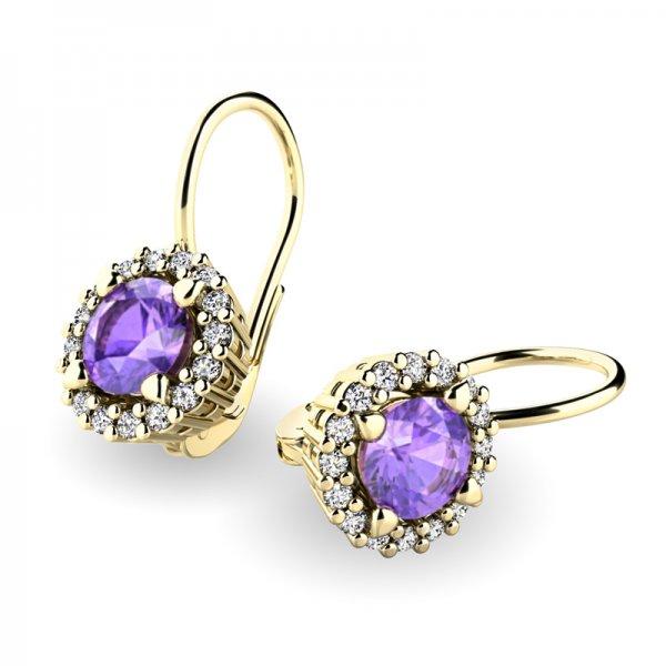 Luxusní náušnice s diamanty 10925-ZL-TAN
