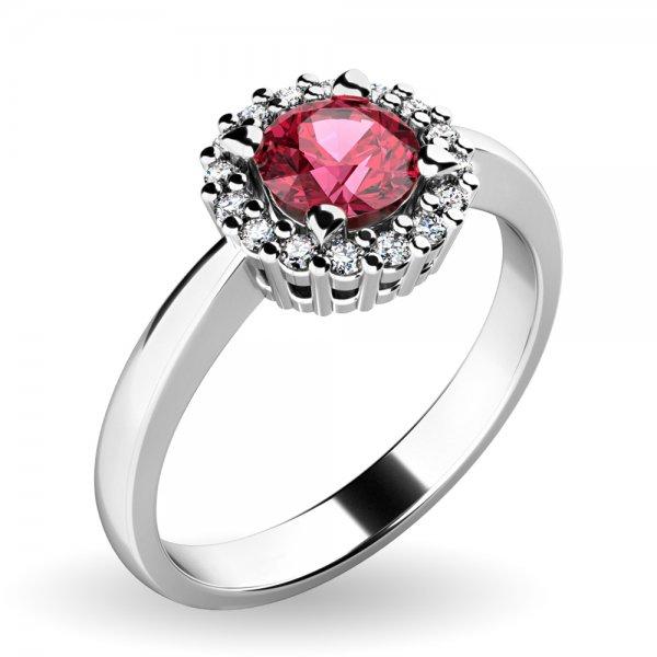 Dámský prsten s turmalínem a brilianty 10924-B-TUR