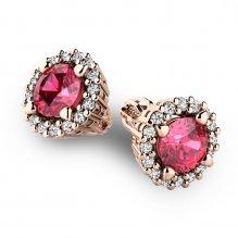 Luxusní náušnice s diamanty 10926-CV-TUR