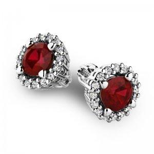 Luxusní náušnice s diamanty 10926-B-GRA