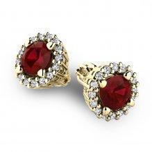 Luxusní náušnice s diamanty 10926-ZL-Granat
