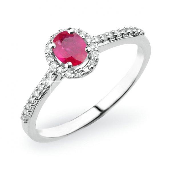 Prsten s rubínem a diamanty GKW52431RUB