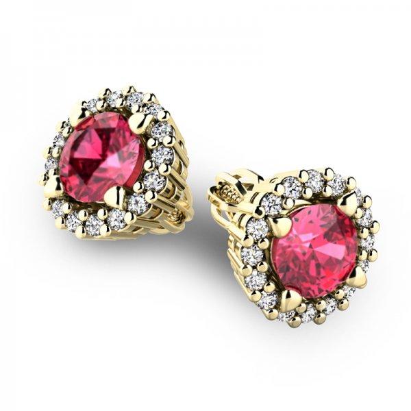 Luxusní náušnice s diamanty 10926-ZL-TUR