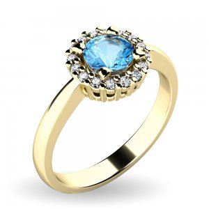Dámský prsten s topazem a brilianty 10924-ZL-TPZ
