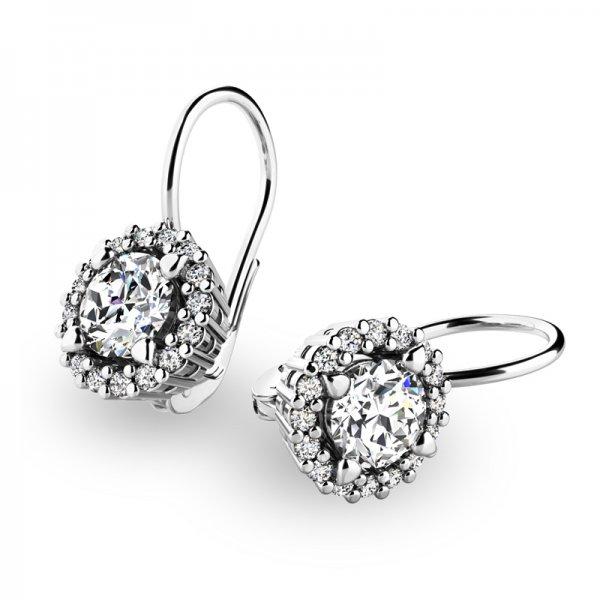 Luxusní náušnice s diamanty 10925-B-DIA