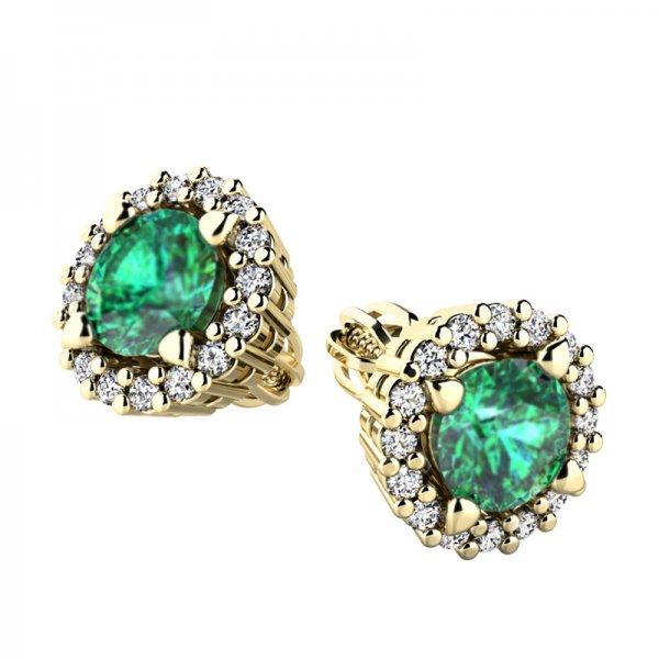 Luxusní náušnice s diamanty 10926-ZL-SMAR