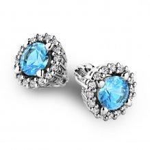 Luxusní náušnice s diamanty 10926-B-TPZ