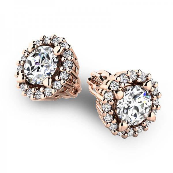 Luxusní náušnice s diamanty 10926-CV-DIA