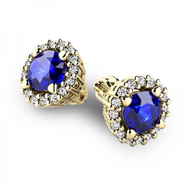 Luxusní náušnice s diamanty 10926-ZL-SAF