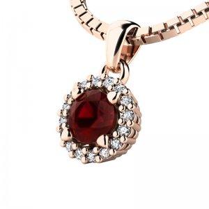 Luxusní přívěsek s diamanty 10927-CV-GRA