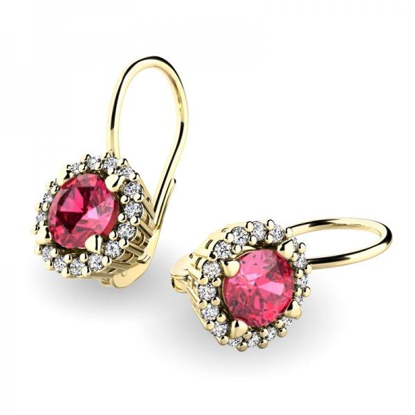 Luxusní náušnice s diamanty 10925-ZL-TUR