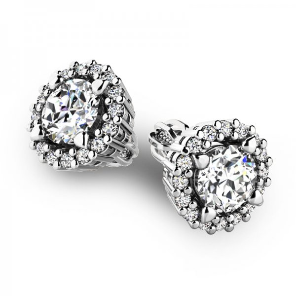 Luxusní náušnice s diamanty 10926-B-DIA