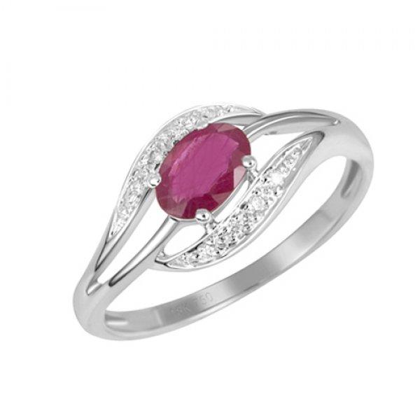Prsten s rubínem a diamanty GKW37898RUB