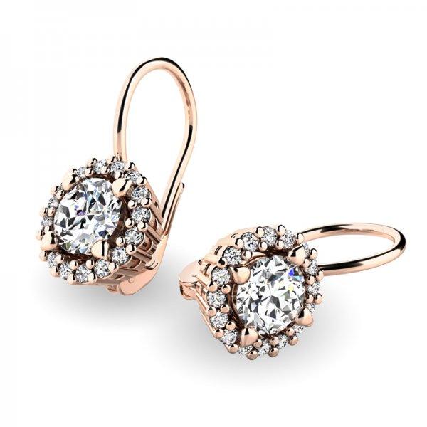 Luxusní náušnice s diamanty 10925-CV-DIA