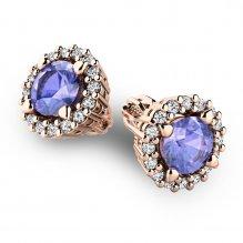 Luxusní náušnice s diamanty 10926-CV-TAN