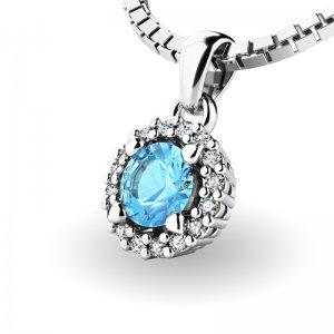 Luxusní přívěsek s diamanty 10927-B-TPZ