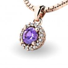 Luxusní přívěsek s tanzanitem a diamanty 10927-CV-TAN