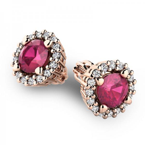 Luxusní náušnice s diamanty 10926-CV-RUB