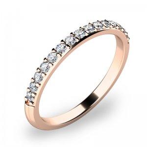 Dámský prsten s diamanty z růžového zlata 10845D