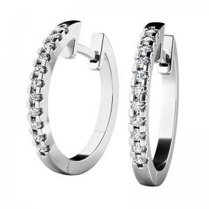 Náušnice kruhy s diamanty 10944-B