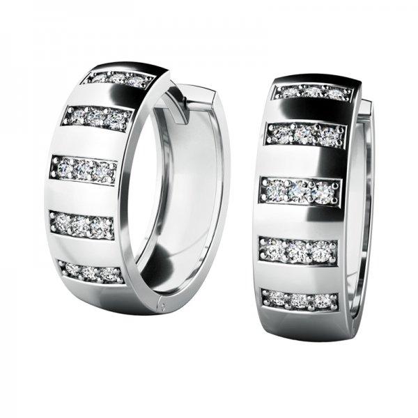 Náušnice kruhy s diamanty 10945-B