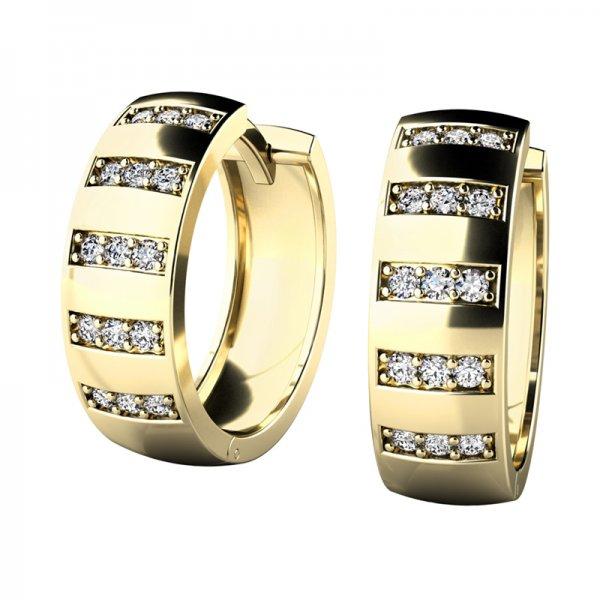 Náušnice kruhy s diamanty 10945-ZL