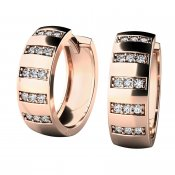 Náušnice kruhy s diamanty 10945-CV