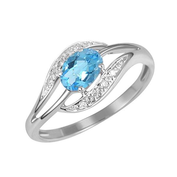 Zlatý prsten s topazem a diamanty GKW37898TPZ