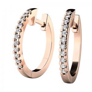 Náušnice kruhy s diamanty 10944-CV