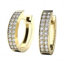 Náušnice oválky s diamanty 10950-ZL