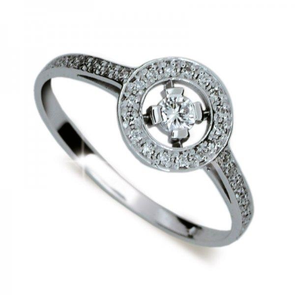 Dámský prsten s diamanty DF1990